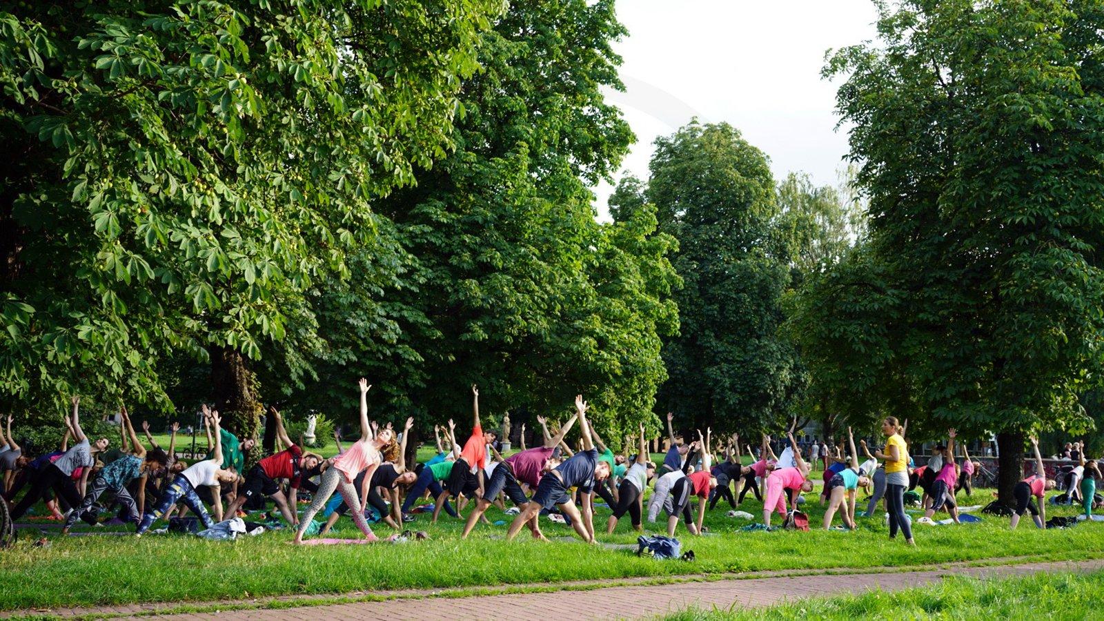 Yoga im Park – wir sind dabei